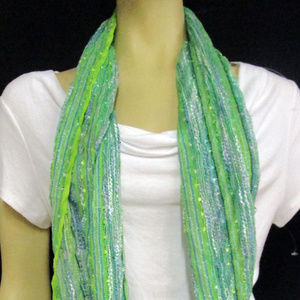 Accessories - Green Multi Infinity Scarf One Size